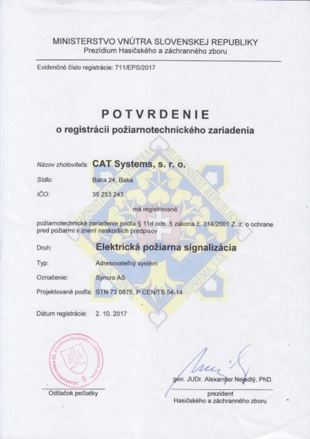 Potvrd O Reg Poziarnotechn Syncro